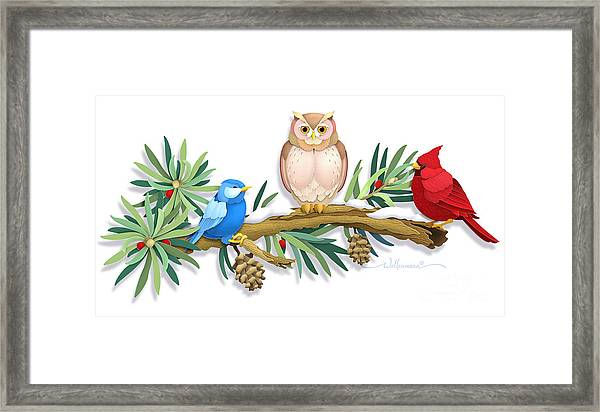 Three Watchful Friends Framed Print