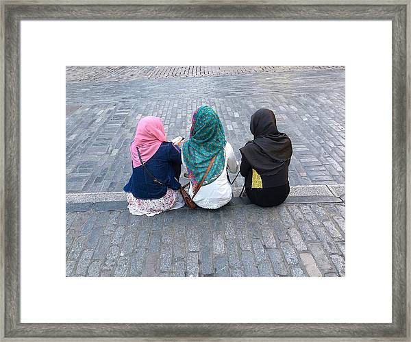 Three Young Muslim Girls Framed Print by Montes-Bradley