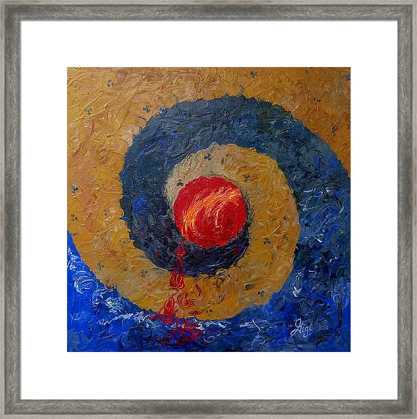 Framed Print featuring the painting Threefold Anguish by Gigi Dequanne