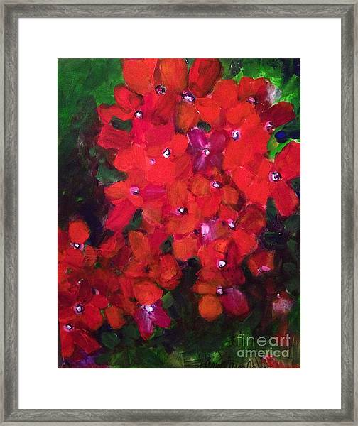 Thriving To Be Noticed Framed Print