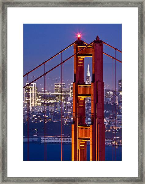 San Francisco Through The Letterbox Framed Print