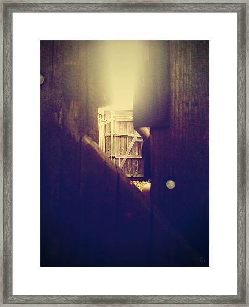 Through The Side Gate Framed Print