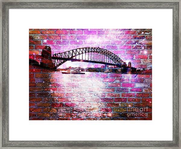 Sydney Harbour Through The Wall 1 Framed Print