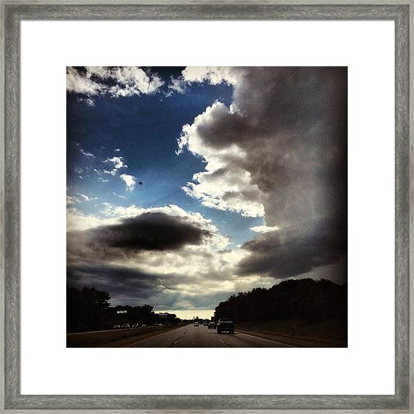 Thunder Clouds Framed Print