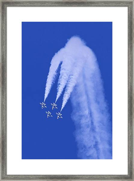 Thunderbirds Diamond Formation Downwards Framed Print