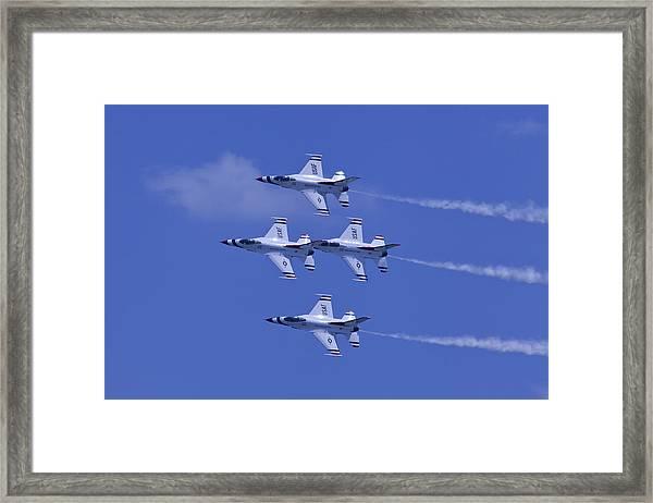 Thunderbirds Diamond Formation Topsides Framed Print