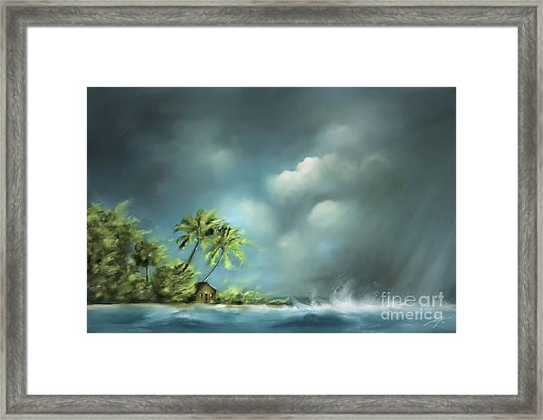 Thunderstorm At Jupiter Beach Framed Print