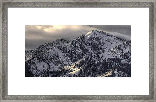 Thurston Peak Pano Framed Print