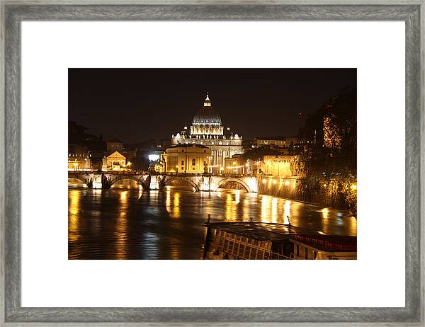 Tiber Night Framed Print