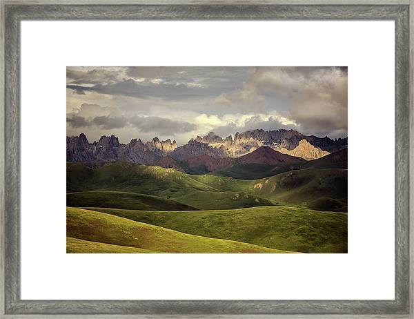 Tibetan Plateau Framed Print