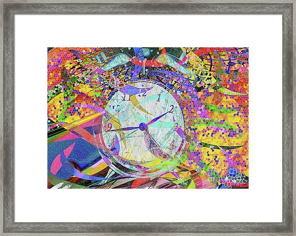 Framed Print featuring the digital art Tic Tac by Eleni Mac Synodinos