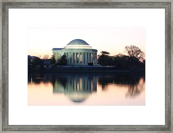 Tidal Basin Sunrise Framed Print