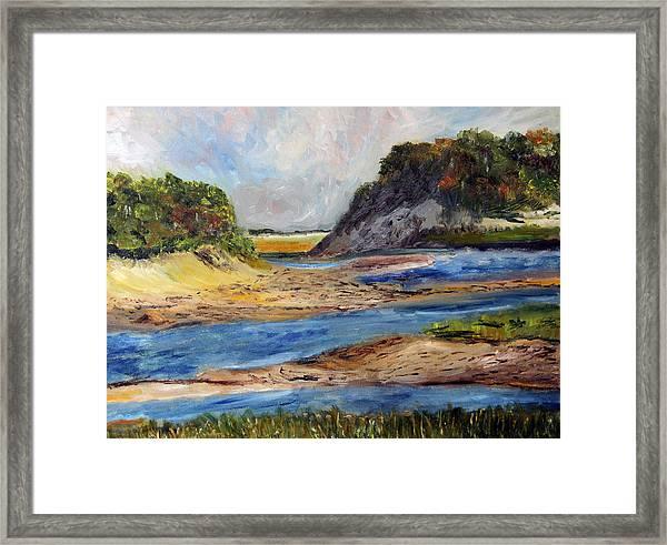 Tidal Dunes In Provincetown Framed Print
