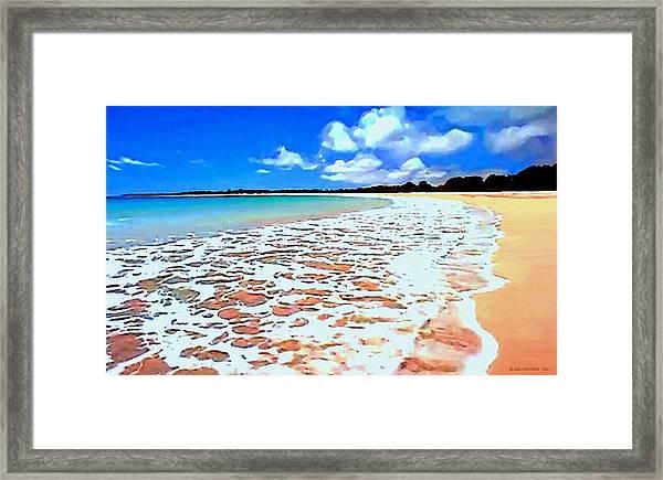 Tidal Lace Framed Print