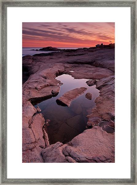 Tide Pool Geometry Framed Print