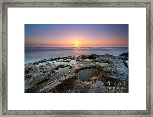 Tide Pool Sunset Framed Print