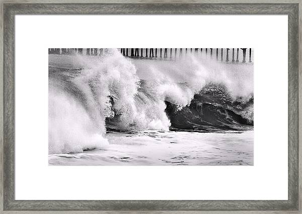 Tides Will Turn Bw By Denise Dube Framed Print