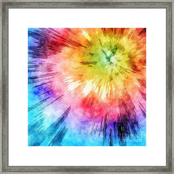 Tie Dye Watercolor Framed Print