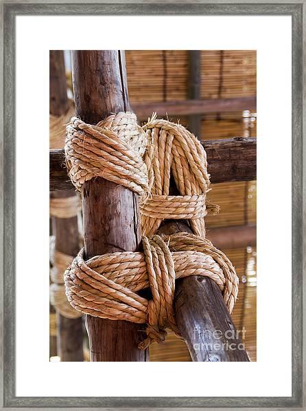 Tie Rope Framed Print by Tad Kanazaki