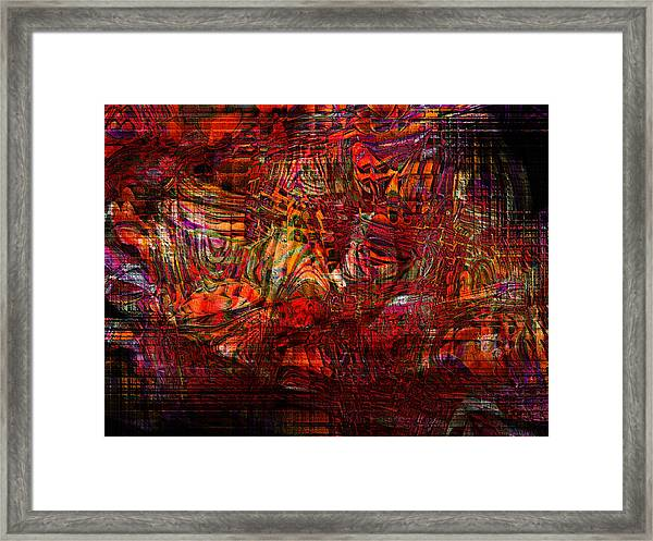 Tiger Glass Framed Print