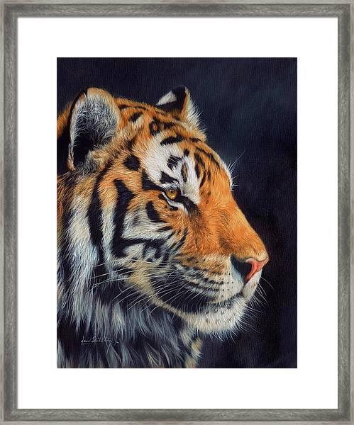 Tiger Profile Framed Print