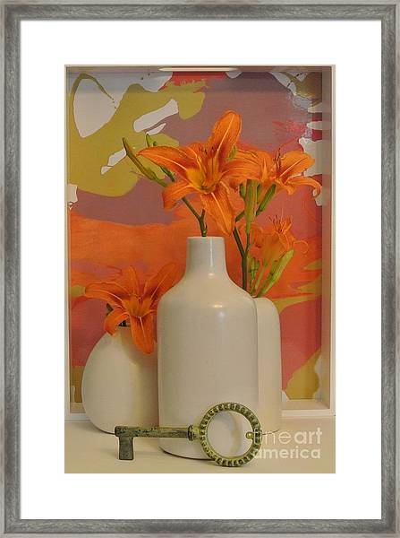 Tigerlily Still Life Framed Print by Marsha Heiken