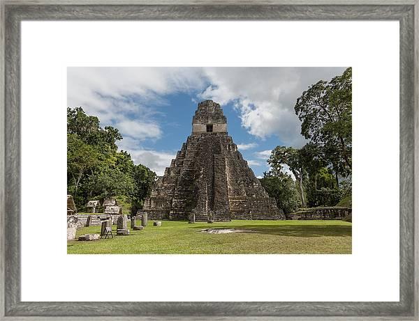 Tikal Pyramid 1j Framed Print