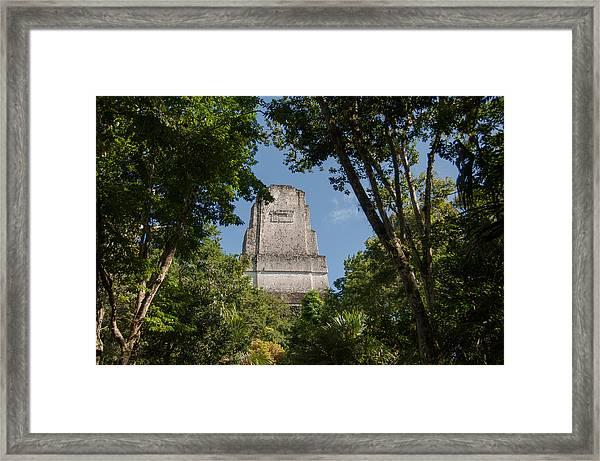 Tikal Pyramid 4b Framed Print