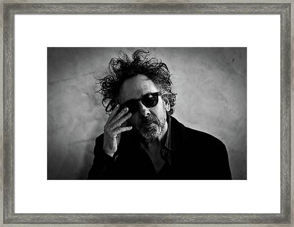Tim Burton Press Conference Framed Print