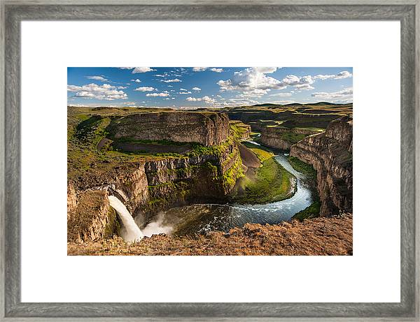 Time Flows On Framed Print