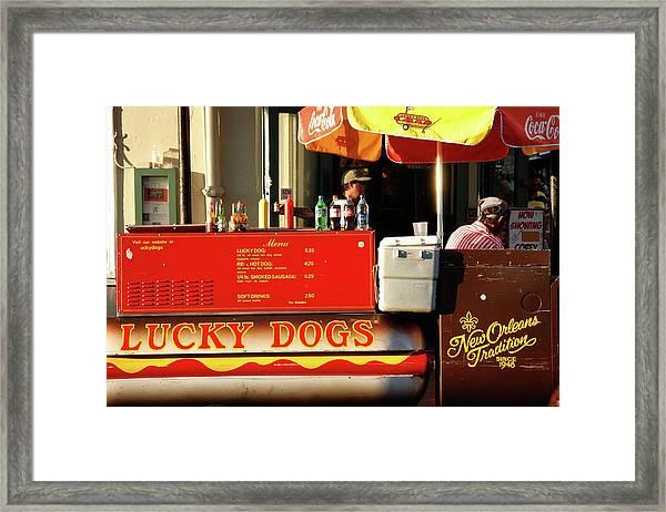 Time For A Lucky Dog Framed Print