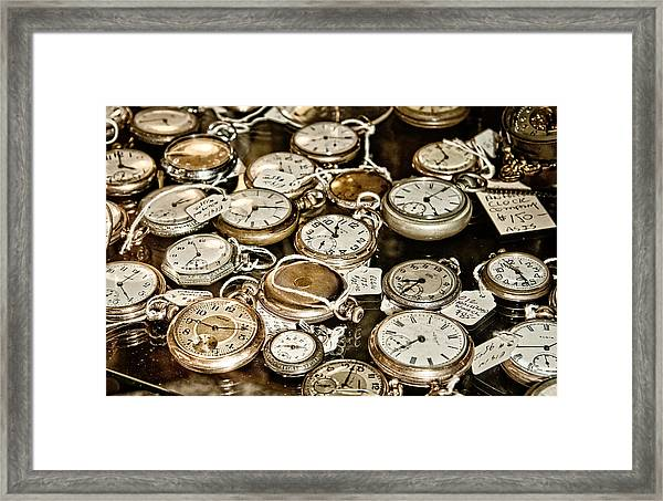 Time For Sale Framed Print