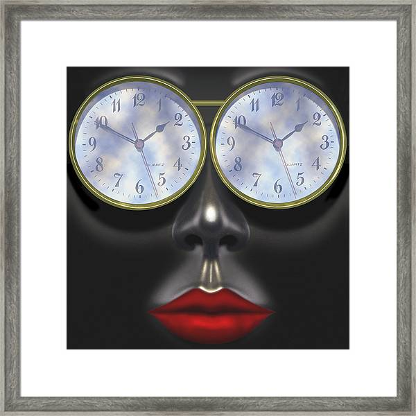 Time In Your Eyes - Sq Framed Print