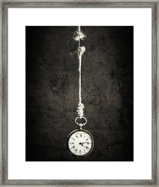 Time Is Up Framed Print by Sergio Rapagn??