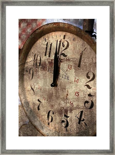 Time Moves Framed Print by Michael Hope