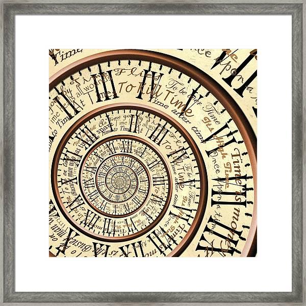 Time Framed Print by Robbert van der Steeg