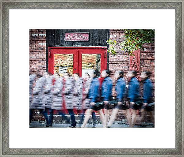 Framed Print featuring the photograph Time Slice In Motion by Steve Stanger