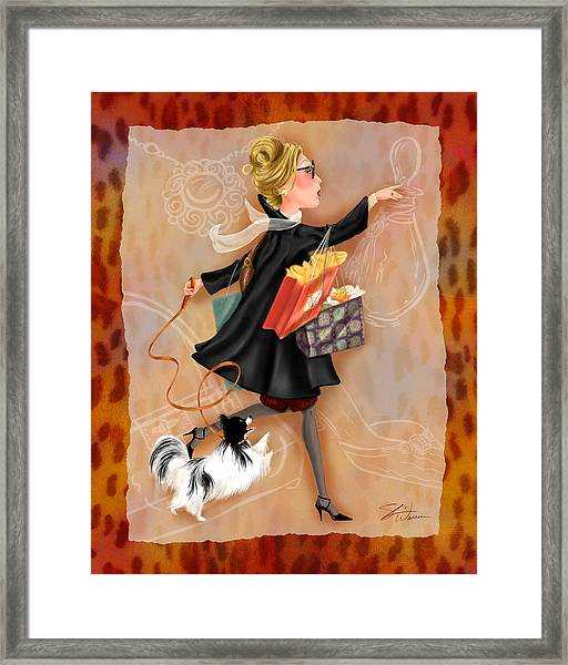Time To Shop 2 Framed Print