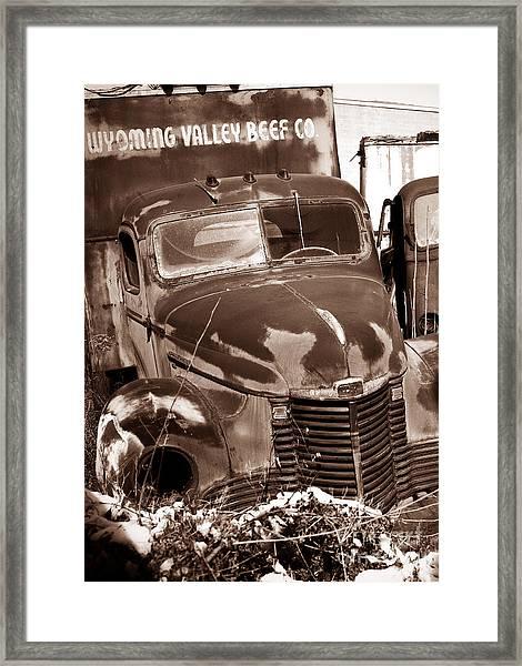 Time Traveler Pennsylvania Ave Wilkes Barre Pa Framed Print