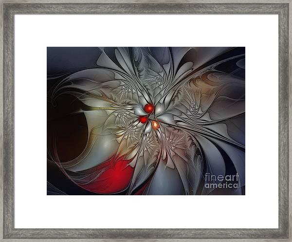 Timeless Elegance-floral Fractal Design Framed Print