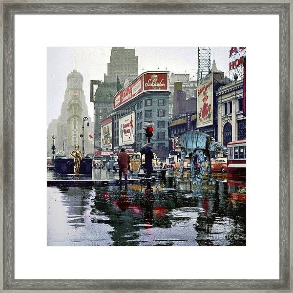 Times Square 1943 Reloaded Framed Print
