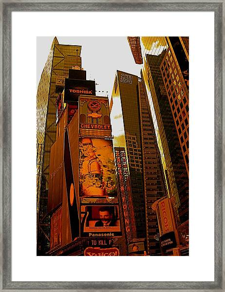 Times Square In Manhattan Framed Print