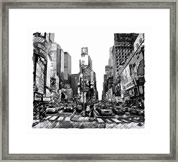 Times Square   New York City Framed Print