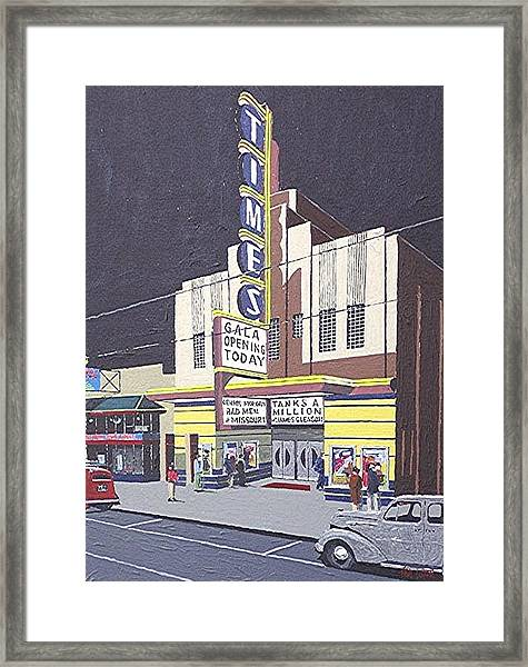 Times Theatre Framed Print by Paul Guyer