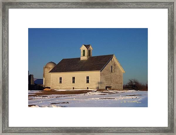 Timstead Barn Framed Print