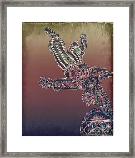 Tin Bunny Framed Print