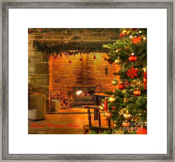 Tinsel And Fire Framed Print