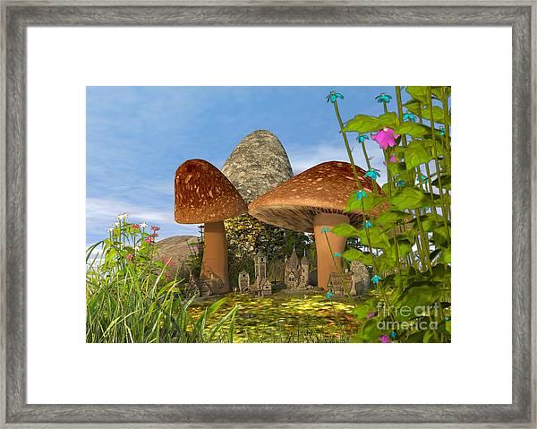 Tiny Fairy Village Framed Print
