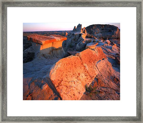 Tipped Over Table Framed Print