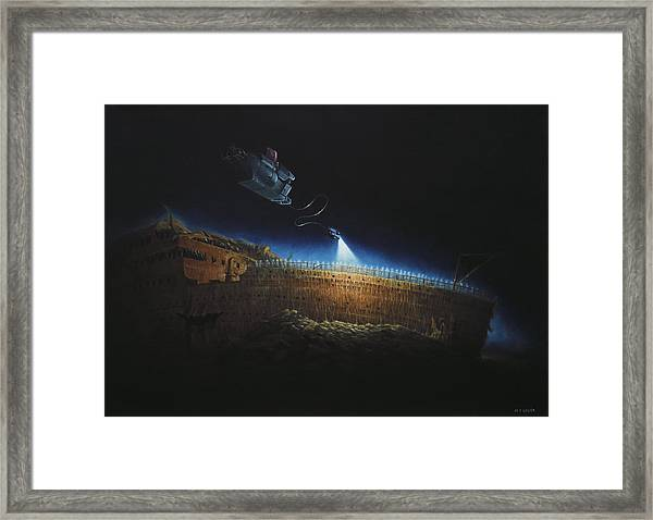 Titanic Wreck Save Our Souls Framed Print